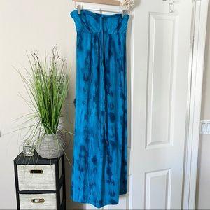 Tie Dye Strapless Maxi Dress
